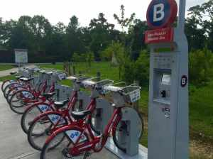 B-cycle Station Near the Houston Zoo in Hermann Park