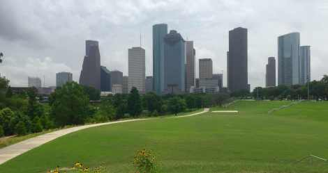 Buffalo Bayou Facing Downtown