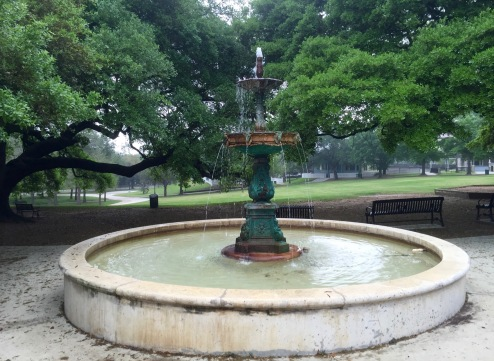 Fountain at Sam Houston Park-Downtown
