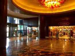 Inside of the Hilton Americas East Entrance