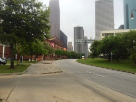 Walker St. Facing Downtown from Buffalo Bayou Trail