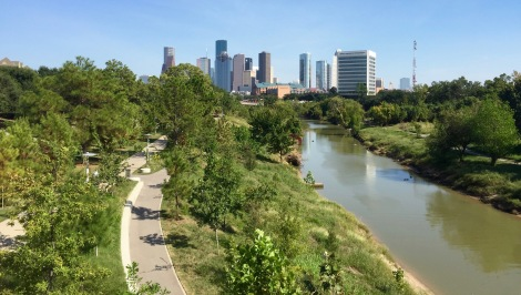 Buffalo Bayou from Pedestrian Bridge