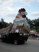 Art Car Parade--Giant Chicken