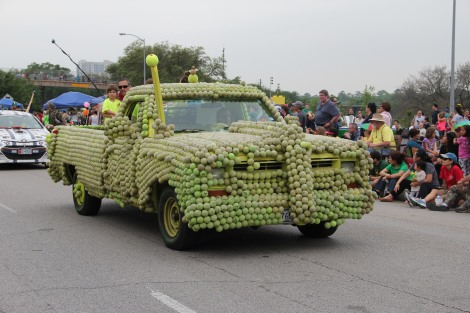 Art Car Parade--Tennis Ball Car